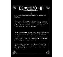 Death note.  Photographic Print
