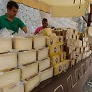 Cheesemongers at d'Alt Vila, Ibiza by Trish Meyer