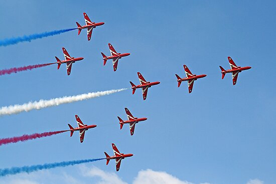 Concorde - The Red Arrows - Dunsfold 2013 by Colin J Williams Photography