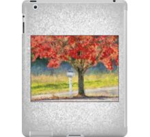 Blazing Bloody Red Dogwood By White Mailbox iPad Case/Skin