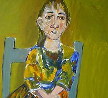 Tammy In Blue Chair by Kassandra Ellison Fine Art