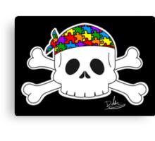 Autism Pirate Pride Canvas Print