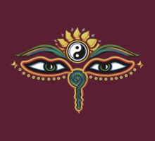 Buddha eyes, symbol wisdom & enlightenment, by nitty-gritty