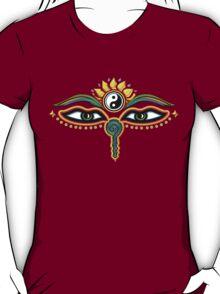 Buddha eyes, symbol wisdom & enlightenment, T-Shirt