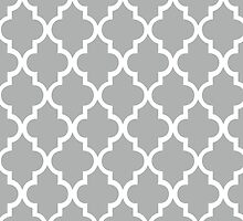 Grey Quatrefoil by kwg2200
