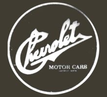 Chevrolet Motor Cars Circle Logo Dark Colours by No17Apparel