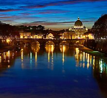 Rome sunset by Gianni Cicalese