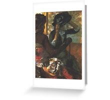 Edgar Degas French Impressionism Oil Painting Greeting Card