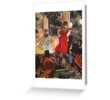 Edgar Degas French Impressionism Oil Painting Cafe Concert Greeting Card
