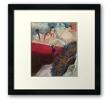 Edgar Degas French Impressionism Oil Painting Im Theater Framed Print
