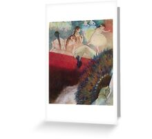 Edgar Degas French Impressionism Oil Painting Im Theater Greeting Card
