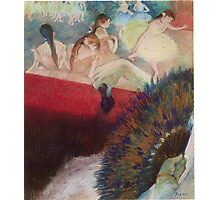 Edgar Degas French Impressionism Oil Painting Im Theater Photographic Print