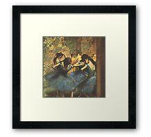 Edgar Degas French Impressionism Oil Painting Ballerina Framed Print