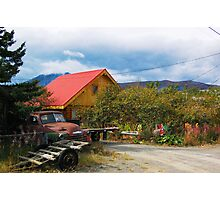 Yellow House in Carcross  Photographic Print