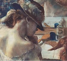 Edgar Degas French Impressionism Painting Woman In Hat by jnniepce