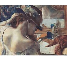 Edgar Degas French Impressionism Painting Woman In Hat Photographic Print