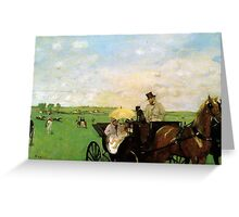 Edgar Degas French Impressionism Oil Painting Horse Buggy Greeting Card