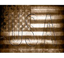 USA in Sepia Photographic Print