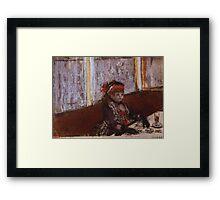 Edgar Degas French Impressionism Oil Painting Girl Eating Framed Print