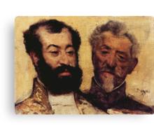 Edgar Degas French Impressionism Oil Painting Bearded Men Canvas Print