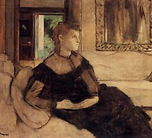 Edgar Degas French Impressionism Oil Painting Woman Sitting by jnniepce