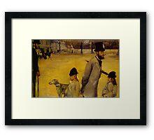 Edgar Degas French Impressionism Oil Painting Childern Dog Framed Print