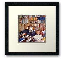 Edgar Degas French Impressionism Oil Painting Man Thinking Framed Print