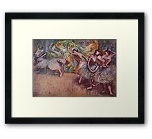 Edgar Degas French Impressionism Oil Painting Dancing Stage Framed Print