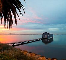 Ahh... The Serenity... Crawley Boat Shed at Sunrise by Boyd Nesbitt