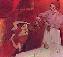 Edgar Degas French Impressionism Oil Painting Brushing Hair by jnniepce