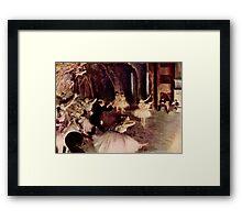 Edgar Degas French Impressionism Oil Painting Ballerinas Performing Framed Print