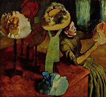 Edgar Degas French Impressionism Oil Painting Womens Hats by jnniepce