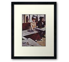 Edgar Degas French Impressionism Oil Painting Sad Woman Framed Print