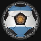 Argentina - Argentine Flag - Football or Soccer by graphix