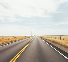 Empty Road in Dry Grassland by visualspectrum