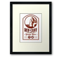 Red Cliff Ale Framed Print