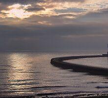 Roker Pier Sunderland by Avril Harris