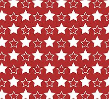 Red And White Stars by kwg2200