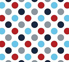 Red And Blue Polka Dots by kwg2200