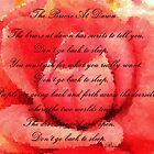 The Breeze at Dawn - Rose - Rumi Quote - Don't Go Back to Sleep by Barbara Griffin