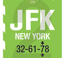 JFK Baggage Tag by axemangraphics