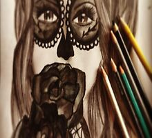 sugar skull girl by summindiana