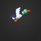 8-Bit Duck - GreyDark by nellyb