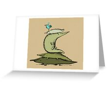 Croc Totem Greeting Card
