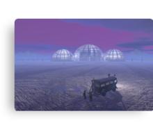Mineral exploration on an Alien Planet Canvas Print