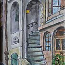 Watercolor Sketch - Genève, Rue Tabazan, 6 by Igor Pozdnyakov