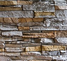 Jagged stone wall by Trevor Coultart