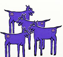 Blue Cows  by david michael  schmidt
