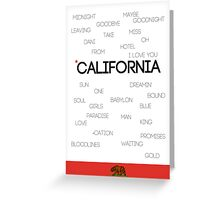 California Greeting Card