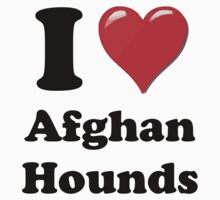 I Heart Afghan Hounds by HighDesign
